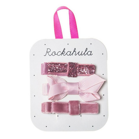 Hiuskoru/pinni, Rockahula KIDS|Twisted Grosgrain Bow Clips Pink