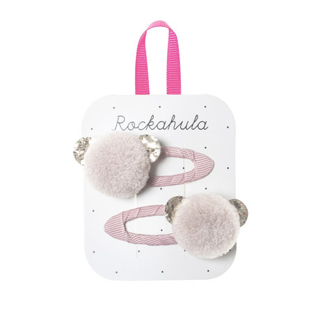 Hiuskoru/pinni, Rockahula KIDS|Billie Bear Pom Pom Clips