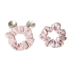 Hiuskoru/pompula, Rockahula KIDS|Little Mouse Scrunchie Set Pink