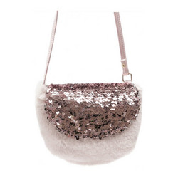 Laukku, Lasten käsilaukku, Rockahula KIDS|Sequin Fur Bag Pink