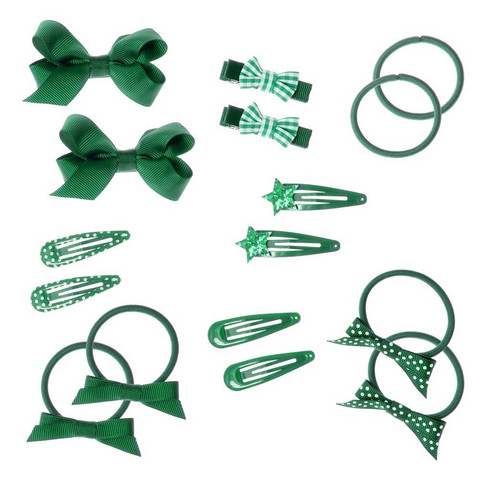 Hiuskoru/pompula, Rockahula KIDS|School Hair Set - 16 Pieces Green