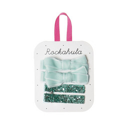 Hiuskoru/pinni, Rockahula KIDS|Velvet and Glitter Clips Blue