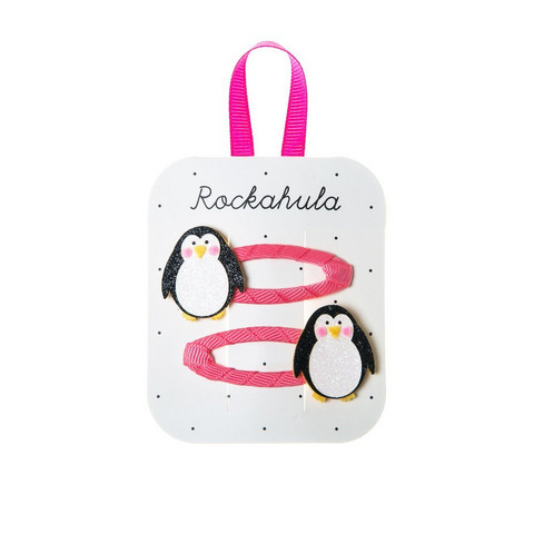 Hiuskoru/pinni, Rockahula KIDS|Penguin Glitter Hair Clips