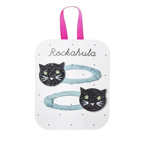 Hiuskoru/pinni, Rockahula KIDS Sparkly Cat Clips Black