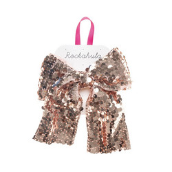 Hiuskoru/solki, Rockahula KIDS|Super Sequins Bow Clip Rose Gold
