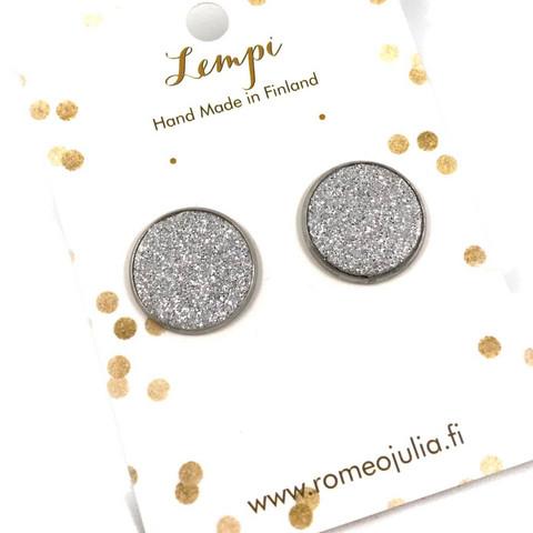 LEMPI-korvanapit, Veera (hopea glitter, M)