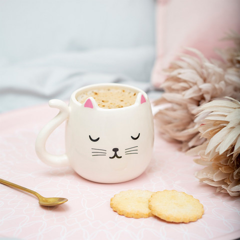 Muki, Sass & Belle/Cutie Cat Shaped Mug