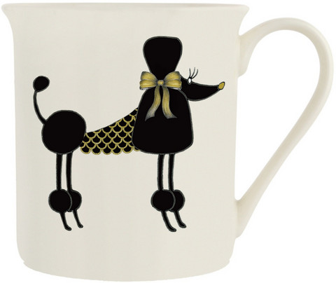 Muki, Poodle Mug with Diamante