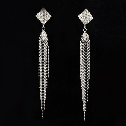 Korvakorut, Trendy Strass Earrings in Silver
