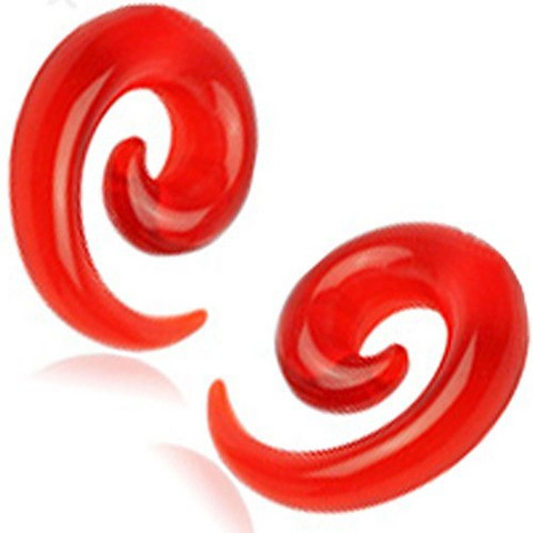 Venytyskoru 2mm, Acrylic Spiral in Red