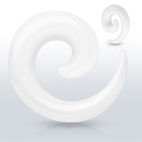 Venytyskoru 2mm, Acrylic Spiral in White