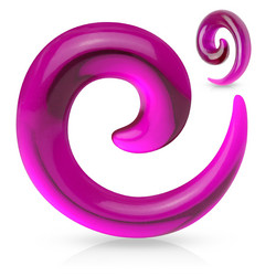 Venytyskoru 2mm, Acrylic Spiral in Purple