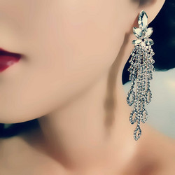 Korvakorut, Beautiful Strass Earrings in Silver