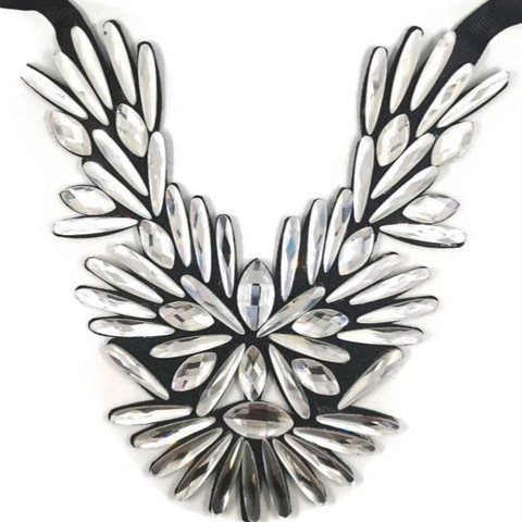 Kaulakoru,  Statement Necklace in Clear