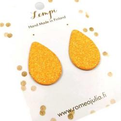 LEMPI-korvanapit, Pisara XL (aprikoosi glitter)