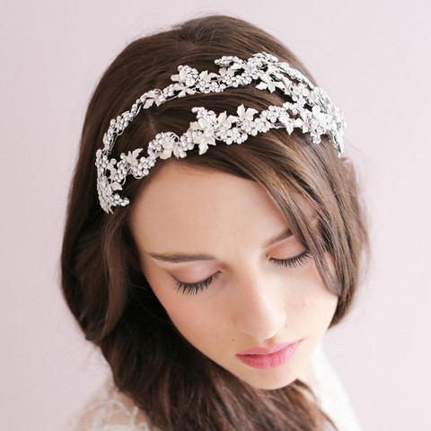 Hiuskoru, panta/ROMANCE, Luxury Headpiece in Silver