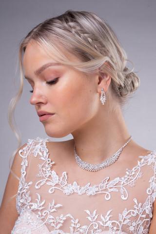 Strassikorvakorut, Elegant Round Earrings