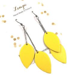 LEMPI-korvakorut, Lehdet (keltainen, siro 2-os)
