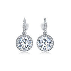 Juhlakorvakorut, ROMANCE/Beautiful CZ Earrings in Silver