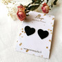 LEMPI-korvanapit, Lempi (musta, pikkuinen sydän)