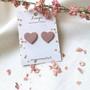 LEMPI-korvanapit, Lempi (vanha roosa, pikkuinen sydän)