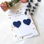 LEMPI-korvanapit, Lempi (tummansininen, pikkuinen sydän)