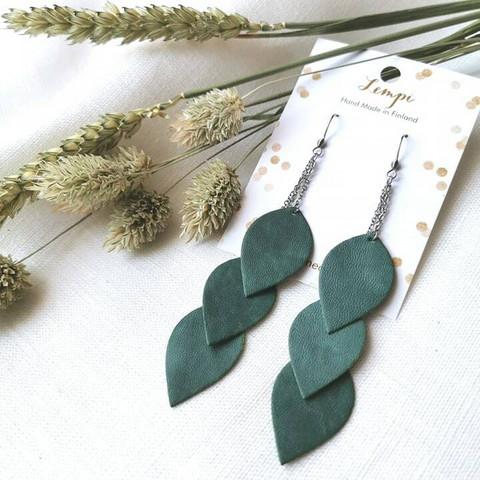 LEMPI-korvakorut, Lehdet (3-os, salvianvihreä)