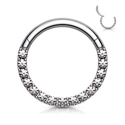 Lävistysrengas, High Quality Front Facing Hinged Rings with CZ/C