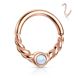 Lävistysrengas, Opal Centered Segment Ring in RGD