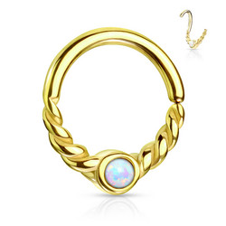 Lävistysrengas, Opal Centered Segment Ring in GDC