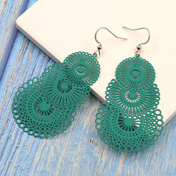 Korvakorut,  Ella Lace Earrings (vihreä)