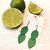 LEMPI-korvakorut, Lehdet (kirkkaanvihreä, siro 2-os)