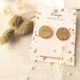 LEMPI-korvanapit, Veera (kulta, nahkaa, M)