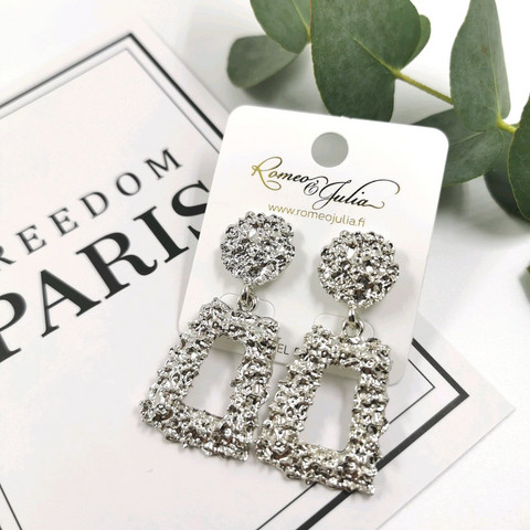 Korvakorut, Chunky Fashion Earrings in Silver