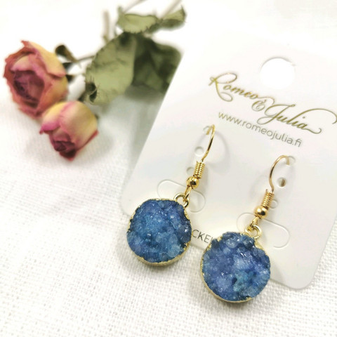 Korvakorut, Blue Quarts Mystique Earrings