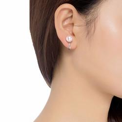 Klipsikorvakorut, BELLE MISS|Enda Clip earrings in Pink Pearl