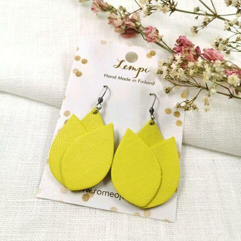 LEMPI-korvakorut, Tulppaani 2.0 (keltainen)