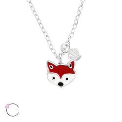Hopeinen kaulakoru, LA CRYSTALE®, Fox Necklace