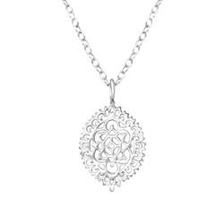 Hopeinen kaulakoru, Romantic Lace Mandala