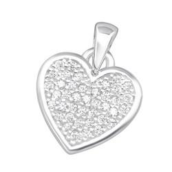 Hopeinen riipus, Elegant Heart Pendant
