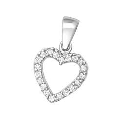 Hopeinen riipus, Classic Heart Pendant