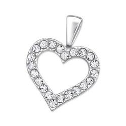 Hopeinen riipus, Luxurious Heart Pendant