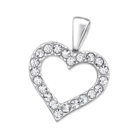 Hopeinen riipus, Luxurious Heart Pendant