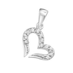 Hopeinen riipus, Luxurious Modern Heart Pendant