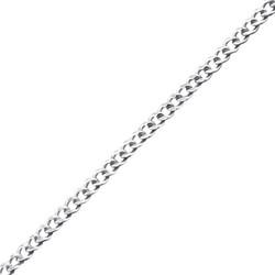 Hopeinen riipusketju,  Silver Curb Chain 41cm