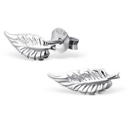 Hopeiset korvanapit, Silver Feather Ear Studs