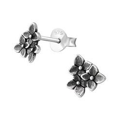 Hopeiset korvanapit, Silver Flower Ear Studs