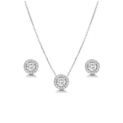 Kristallikorusetti, ATHENA BRIDAL|Crystal Sparkle Necklace Set