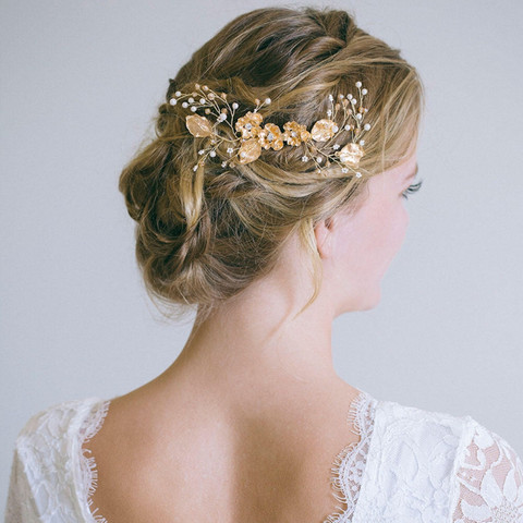 Hiuskoru/ROMANCE,  Dreamy Headpiece in Warm Gold