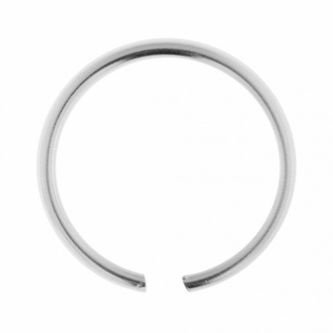 Lävistysrengas, Seamless Continuous Sterling Silver Nose Ring